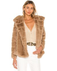 Apparis Куртка Из Искусственного Меха Goldie В Цвете Серо-коричневый - Многоцветный