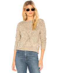 MAJORELLE - Cable Knit Sweater In Grey - Lyst