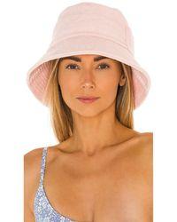 Lack of Color Шляпа Wave В Цвете Нежно-розовый - Многоцветный