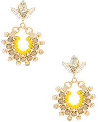 Anton Heunis - Hoop Earrings With Agate In Yellow. - Lyst