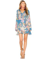 Spell & The Gypsy Collective - Blue Skies Wrap Mini Dress - Lyst