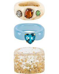 8 Other Reasons Conjunto de anillos - Azul