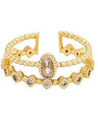 Natalie B. Jewelry Mari Duo Ring - Metallic