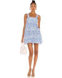 Amanda Uprichard Mitzi Mini Dress - Blau