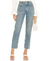 Free People Fast Times High Rise Mom Jean - Blue