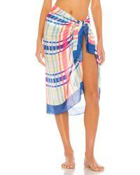 Solid & Striped Парео В Цвете Tropical Plaid - Синий