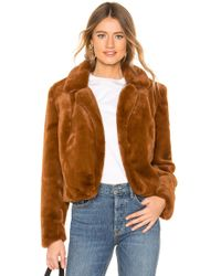 Blank NYC - Faux Fur Cropped Jacket In Brown - Lyst