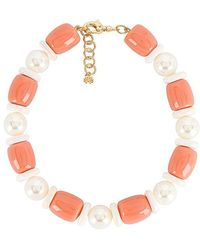 Lele Sadoughi Monaco Coral Necklace - Pink
