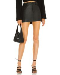 Dion Lee Leather ミニスカート - ブラック