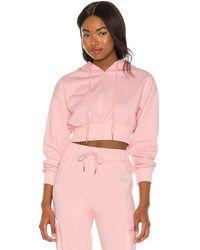 superdown Angelia Cropped Sweatshirt - Pink