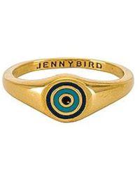 Jenny Bird Evil Eye Signet Ring - Metallic