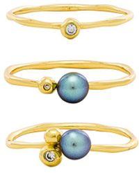 Gorjana - Vienna Shimmer Ring Set - Lyst