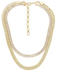 Amber Sceats Многорядное Ожерелье В Цвете Золотой - Металлик