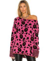 One Teaspoon - Свитер Leopard В Цвете Ярко-розовый - Lyst