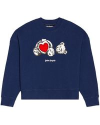 Palm Angels Sudadera bear - Azul