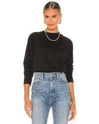 Marissa Webb So Uptight Raglan Sweatshirt - Black