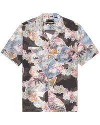 AllSaints Рубашка Carnation В Цвете Чёрный - Черный
