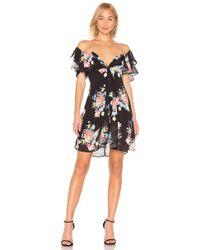 f574bff563 LPA V Neck Dress in Black - Save 3% - Lyst