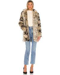 Apparis Sydney Faux Fur Coat - Braun