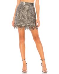 X By NBD - Xavi Embellished Sequin Skirt In Metallic Silver - Lyst