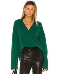 Autumn Cashmere Boxy Wide Sleeve Sweater - Green