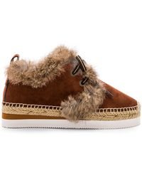 See By Chloé - Espadrille Trainer In Brown - Lyst