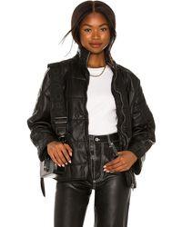 Free People Dolman Quilted Vegan Leather Jacket - Black