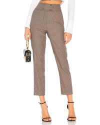Rebecca Taylor - Houndstooth Pant In Brown - Lyst