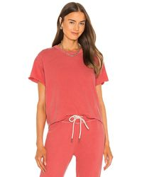 The Great - Tシャツ In Coral. Size 0 / Xs, 2 / M. - Lyst