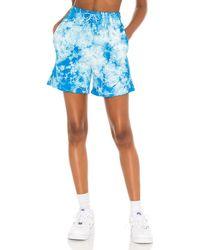 Frankie's Bikinis Спортивные Шорты Burl В Цвете Океанский Размытый - Синий