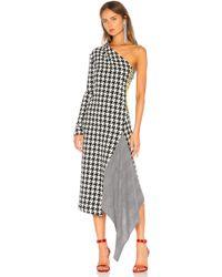 Off-White c/o Virgil Abloh - Asymmetric Houndstooth Wool-blend Dress - Lyst