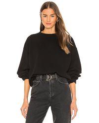 Agolde Nolan Drop Shoulder Sweatshirt - Black
