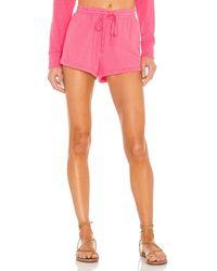 Bobi Sustainable Slub Terry Shorts - Pink