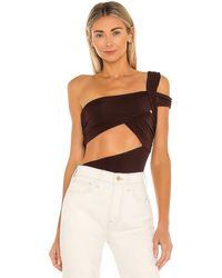 h:ours Gabby Bodysuit - Brown