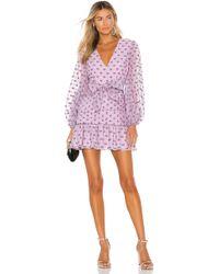 Keepsake Call Me Mini Dress - Purple