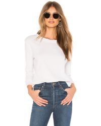 Frank & Eileen - Tee Lab Crew Neck Long Sleeve Tee In White - Lyst