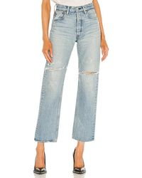 Moussy Teaneck Wide Straight - Blue