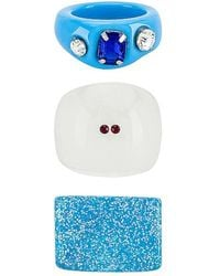 8 Other Reasons Acrylic Ring Set - Blue