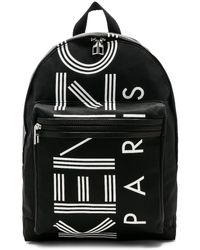 KENZO Logo print backpack - Schwarz