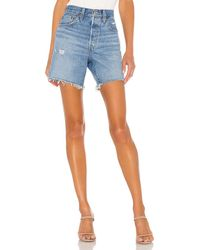 Levi's 501 Mid Thigh Short. Size 24,25,26,27,28,29,30,32. - Blue