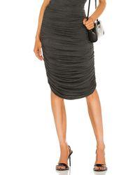 Norma Kamali Shirred Skirt - Gray