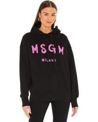 MSGM Felpa スウェットシャツ - ブラック