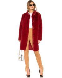 Velvet By Graham & Spencer - Mina Faux Fur Coat - Lyst