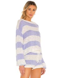 Beach Riot Свитер Ava В Цвете Sweet Lavender Stripe - Пурпурный