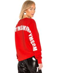 MSGM - Identity Sweatshirt - Lyst