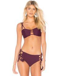 Mia Marcelle Reina Bikini Top - Purple