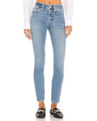 FRAME High-Rise-Jeans, Skinny-Fit - Blau