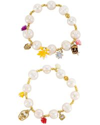 Mercedes Salazar Calaquitas Bracelet Set - White