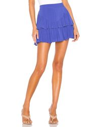 superdown Becky Ruffle Tier Skirt - Blau