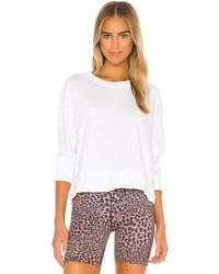 James Perse Relaxed Crop Pullover - White